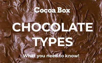 Chocolate Types: Dark, Milk and White