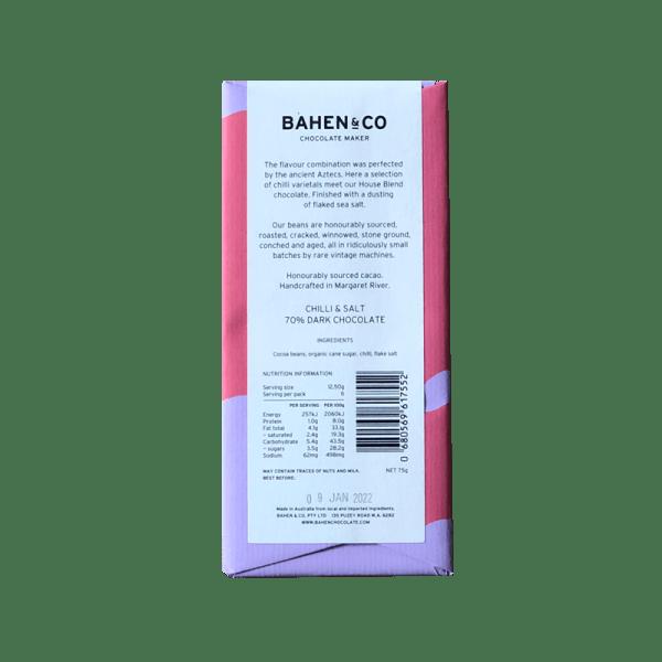 Bahen & Co Chilli & Salt ingredients