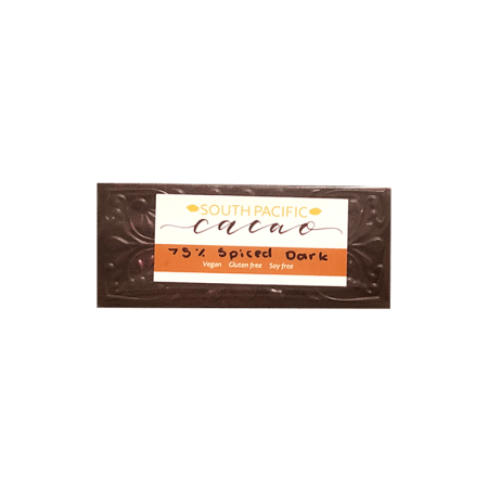 Spice dark chocolate bean to bar