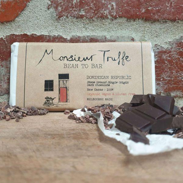 100 dark chocolate monsieur truffe