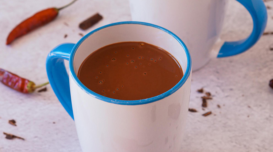 Aztec spicy hot chocolate drink