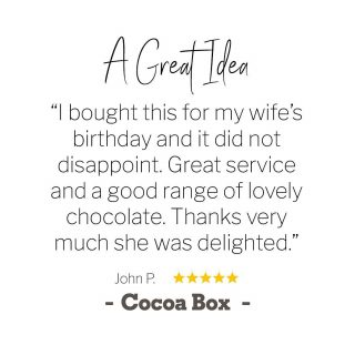 ✨ At Cocoa Box, we LOVE what we do... delivering happiness one box of chocolate at a time! And we're only happy when our customers are happy ... so check out some recent reviews from some delighted customers!⁠⠀ 💬 💬 💬