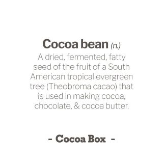 "✨ In case you were curious 🤔 ... the definition of ""Cocoa bean"" according to the Merriam-Webster dictionary:⁠⠀ .⁠⠀ .⁠⠀ .⁠⠀ A dried, fermented, fatty seed of the fruit of a South American tropical evergreen tree (Theobroma cacao of the family Sterculiaceae) that is used in making cocoa, chocolate, and cocoa butter.⁠⠀ .⁠⠀ ""The cocoa bean contains cocoa solids (particles) and about 53 percent cocoa butter."" — Rose Levy Beranbaum ⁠⠀ ⁠⠀ #cocoabean #Theobromacacao #cocoa #chocolate #cocoabutter #cocoasolids"